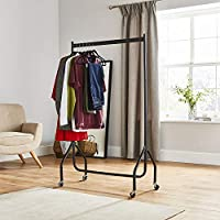 Direct Online Houseware 3ft Long x 5ft Heavy Duty Clothes Rail In Black Metal Construction