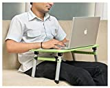 #4: Parasnath Prime Height Adjustable Foldable Multi-Function Portable Beautiful Laptop Table / Study Table / Bed Table - Green Colour (20 Years Warranty Made in Abroad)