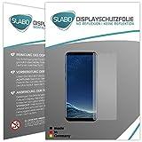 Slabo 4 x Displayschutzfolie für Samsung Galaxy S8+ Displayfolie Schutzfolie Folie Zubehör (verkleinerte Folien, aufgrund der Wölbung des Displays) S8 Plus No Reflexion MATT - Made IN Germany