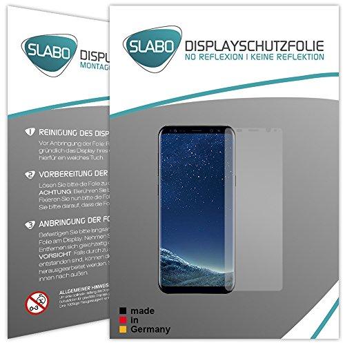 Slabo 4 x Displayschutzfolie für Samsung Galaxy S8+ Displayfolie Schutzfolie Folie Zubehör No Reflexion MATT