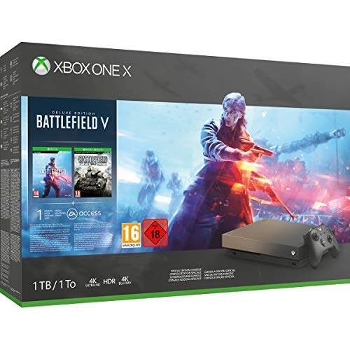 Xbox One X 1TB Gold Rush Special Edition console Battlefield V Bundle