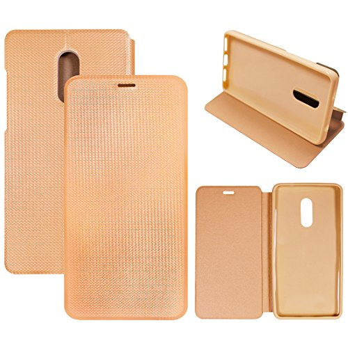 Casotec Premium Flip Case Cover with Invisible Magnet Closure for Xiaomi Redmi Note 4 - Gold  available at amazon for Rs.399