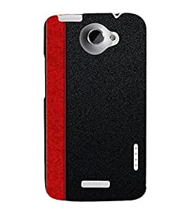 PrintVisa Red Stripes Design 3D Hard Polycarbonate Designer Back Case Cover for HTC One X