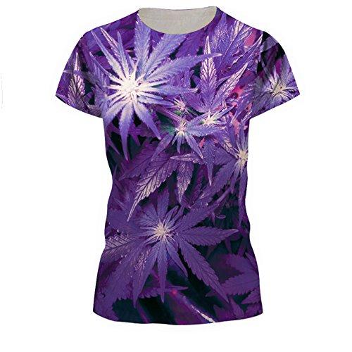 SEVENWELL Männer Frauen 3D Bedrucktes Muster Short T Ärmel Shirt Cool Graphics Tees für Jungen Grils Ahorn XL=US L (Graphic Jungen Kleinkind T-shirt)