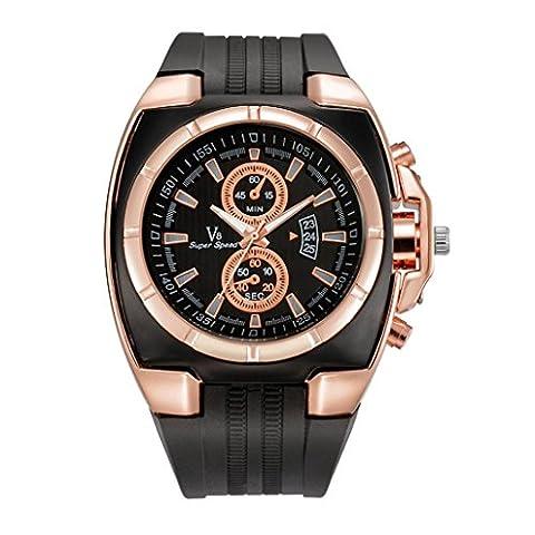 Herren Uhren, ihee New Fashion V8Herren Dünn Silica Gel Studenten Sport Quarz-Armbanduhr Casual Silikon Armband Quarz Armbanduhr M T