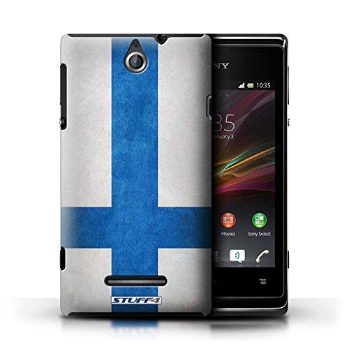 Kobalt® Imprimé Etui / Coque pour Sony Xperia E / Finlande/finlandais conception / Série Drapeau Finlande/finlandais