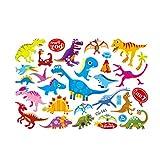 TOYMYTOY Niños de Dibujos Animados Tatuajes Temporales Etiqueta Jurasica Dinosaurios Transferencia de Agua Temporal Pegatinas de Arte Corporal para Niños