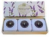 Geschenk Boxed Hand Seifen 3 x 100g Englisch Lavendel