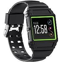 SnowCinda Fur Fitbit Ionic Besondere Armband, Ersatz Weich TPU Zubehor Besondere Sport Uhr Band mit Rahmen und Metallschliese fur Fitbit Ionic Smartwatch Damen Herren