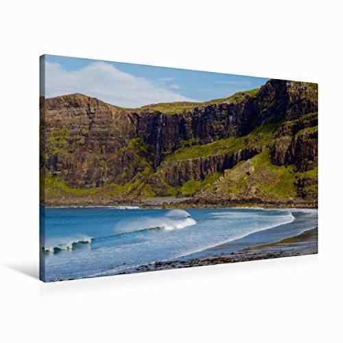 Preisvergleich Produktbild Premium Textil-Leinwand 90 cm x 60 cm quer Talisker Bay, Isle of Skye | Wandbild, Bild auf Keilrahmen, Fertigbild auf echter Leinwand, Leinwanddruck (CALVENDO Natur)