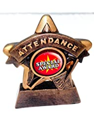 """3.75"""" Mini Attendance Star Award Trophy with FREE Engraving"""