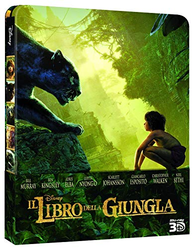 THE JUNGLE BOOK (2016) (3D/2D Blu-ray Steelbook) [Region-Free European Exclusive Limited Edition Steelbook]