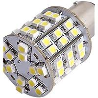 2pz Car T25 BAY15D 1157 Luci di arresto della lampadina freni 3528SMD bianco 60 LED luce 12V,bianco caldo