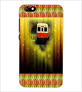 PrintDhaba Train D-4606 Back Case Cover for HUAWEI HONOR 4X (Multi-Coloured)