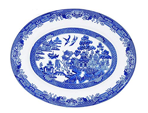 Churchill China Blue Willow Oval Dish 31cm Churchill China Willow