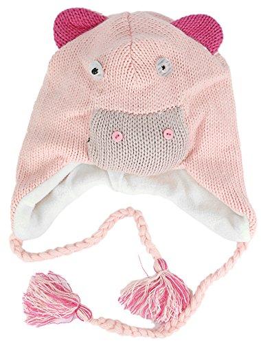 Traumhafte Verspielte Kinder Wintermütze Rosa Schweinchen Schwein