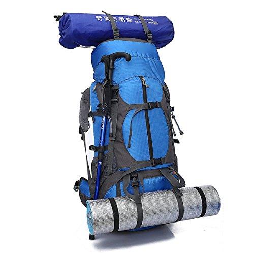 Wasserresistentes Wandern Trekking Rucksack Camping Reise Rucksack Tasche Klettern Knapsack Outdoor Sport Pack,Blue Blue