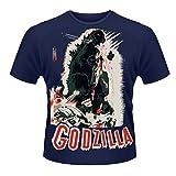 Godzilla - Vintage Poster - Offiziell Herren T-Shirt - Blau, X-Large