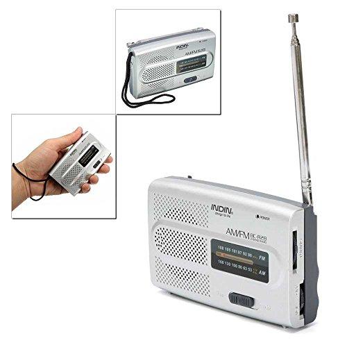 Mini Poste Radio de Poche Style Rétro Vintage AM-FM Alimentation Piles BC-R28