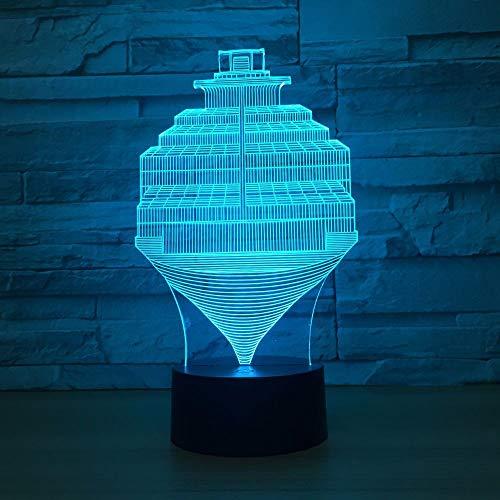 3d nachtlicht schritte abstrakte lampe usb 7 farbwechsel touch switch led innen schlafzimmer lampe party decor lampe