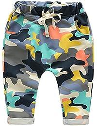 Minuya Pantalon Bébé Garçon, Camouflage Taille Elastique Pantalon, Pantalons sport de jogging décontracté Pour Enfants Garçon 2-8 Ans