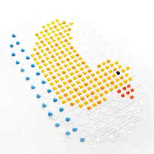 SHARLLEN Rutschfeste Badewanne Matte ungiftig, Anti Bakterielle, Rutschfeste Dusche Matte Cute Design für Babys, Kinder, Kleinkind, Single Duck, 68 * 37cm