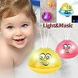 Spray Wasser Baby Badespielzeug,Schwimmende Badespielzeug FüR Baby,Badespielzeug für Badewanne Beach Pool Badespray Spielzeug mit Lampe Automatische Induktionsspray Wasserbad Spielzeug Kindergeschenke