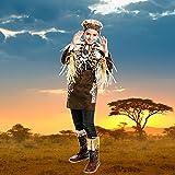 Kostümplanet® Afrika-Kostüm Kinder Afrikaner Häuptling Dschungel Safari Größe 140 -