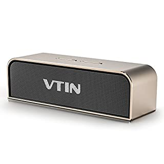 Bluetooth-Lautsprecher V4.0Stereo 20 W VTIN mit 5000 mAh-Akku, Lautsprecher kabellos mit passivem Subwoofer, für iPhone 7,7Plus, 6S, 6S Plus, Galaxy S7,S6, Huawei P10,P9 und andere Bluetooth Geräte