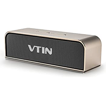 Bluetooth Lautsprecher VTIN 4.0 Tragbar Premium Stereo Speaker Aluminium Boombox mit 20W Treiber, Wireless Speaker mit reinem Bass und eingebautem Mikrofon für iPhone, Samsung, Nexus und andere Android Geräte