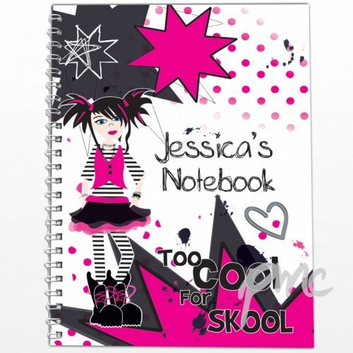 personalised-too-cool-girl-a5-notebook