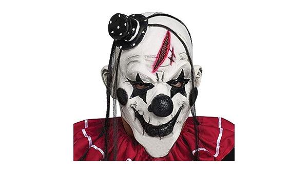 Halloween Yissma Halloween Masque Facial Masque dhorreur Squelette coiffures Effrayant Costume dhorreur Cosplay Accessoires fant/ôme Halloween pour Les Festivals en Plein air