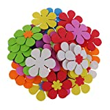 Descripción:               - 40pcs multi colores mezclaron formas de flores espuma stickes (sin goma en la espalda)        - Material: espuma EVA Tamaño: Aprox. 6 cm / 2.36 pulgadas        - Formas de flores de espuma que se a...