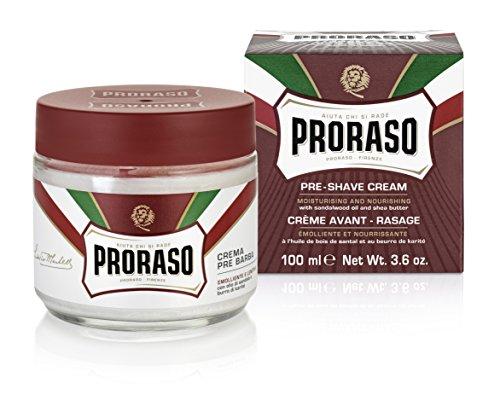 Proraso Rote Linie Pre-Shave Cream 100 ml Creme zur Rasurvorbereitung für hartes & dichtes Barthaar