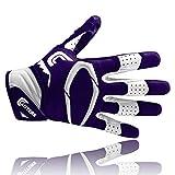 Cutters S451 REV PRO 2.0 American Football Receiver Handschuh, lila, Gr. L