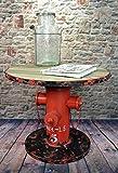 Livitat® Beistelltisch Couchtisch Hydrant H50 cm Metall Vintage Industrie Look Loft LV5023