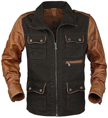 Gipsy Dino Leder-Jacke braun XL