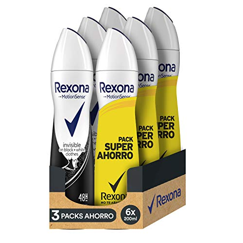 Rexona Desodorante Antitranspirante Invisible On White&Black