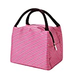 exmart Lunch Bag Tote Bag for Women Lunch Box Insulated Lunch Container (Red)