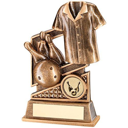 14,6cm Kunstharz Ten Pin Bowling Trophy Kostenlose Gravur bis zu 30Buchstaben