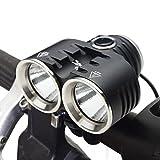 ThorFire BL02 LED Fahrradbeleuchtung, XM-L2 LED Fahrradlampe Frontlicht, 3 Licht Modi Fahrradscheinwerfer, 1400LM Fahrradlicht, Fahrradbeleuchtung Set Inklusive Batterien, Für Jogging Camping