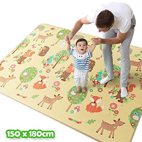 BAKAJI 2824615 Tappeto Gioco per Bambini, 150 x 180 cm