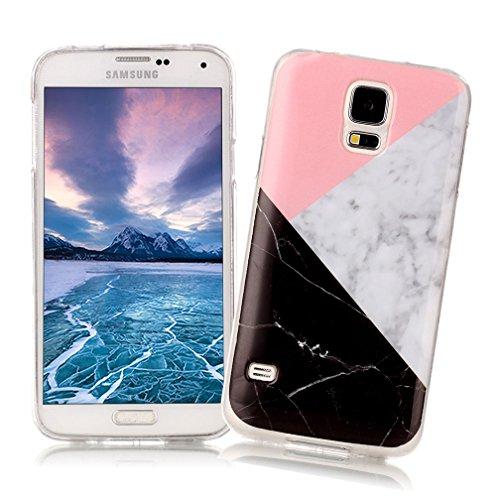 60% barato más de moda último clasificado XiaoXiMi Funda Samsung Galaxy S5 con Textura de Mármol Carcasa de Silicona  Slim Soft TPU Silicone Case Cover Funda Protectora Carcasa Delgado Ligero  ...