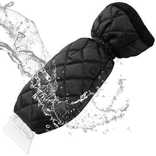 Preisvergleich Produktbild Yikaich Eiskratzer,  Handschuh,  Futter aus Molton,  warm,  mit Rakel,  Schneebürste für Windschutzscheibe von Autos,  SUV / LKW - Blau