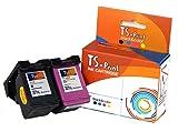 TS-Print 2er-Set Tintenpatronen ersetzt HP-301-XL schwarz Black + DREI-farbig tri-Color