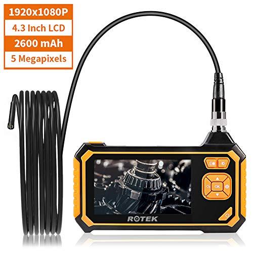 Endoscopes Industriels, ROTEK Caméra D'inspection D'écran 4,3 Pouces LCD Industriel Portatif,...