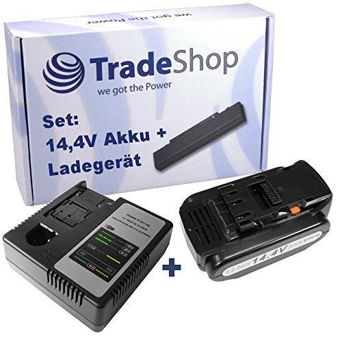Preisvergleich Produktbild 2in1 Angebot im Set: Akku Schnellladegerät + Hochleistungs Li-Ion 14,4V 3000mAh Akku für Panasonic EY4640 EY7440 EY7441 EY7442 EY7540 EY7541 EY7542 EY7546 EY7547 EY7840 EY7940 EY9L40B EZ3740 EZ3741