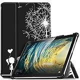 IVSO Hülle für Huawei MediaPad M5 Lite 10, Ultra Schlank Slim Schutzhülle Hochwertiges PU mit Standfunktion Perfekt Geeignet für Huawei MediaPad M5 Lite 10 10.1 Zoll 2018 Modell, Black Lovers