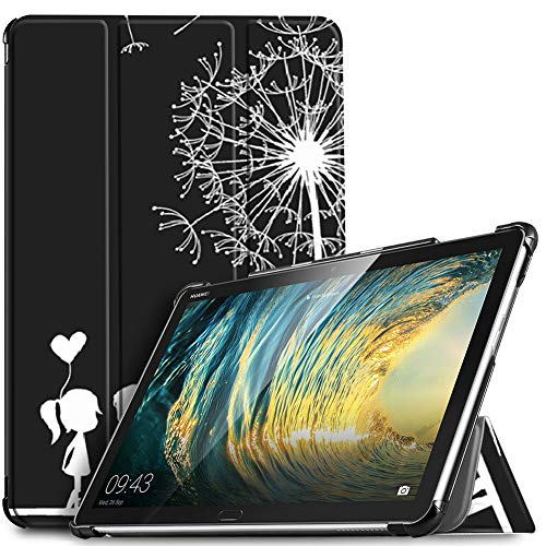 IVSO Hülle für Huawei MediaPad M5 Lite 10, Ultra Schlank Slim Schutzhülle Hochwertiges PU mit Standfunktion Perfekt Geeignet für Huawei MediaPad M5 Lite 10 10.1 Zoll 2018 Modell, Midnight Lovers