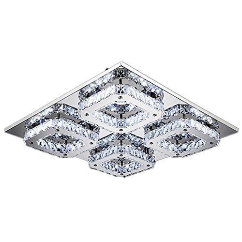 48W LED Cristal Design Lampe suspension lumière pendentif lampe de plafond Lustre Creative Blanc froid Lustre